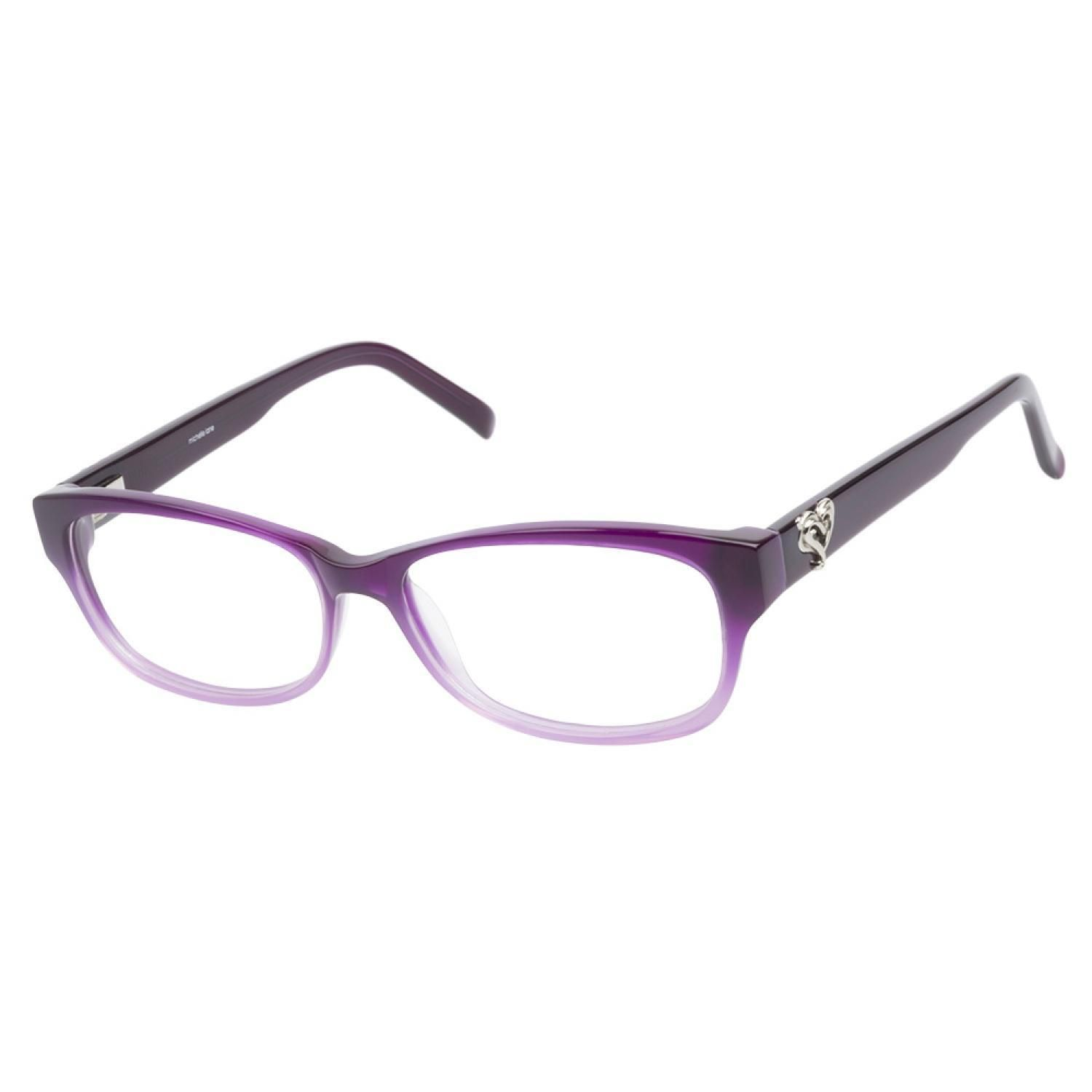 8b346b3326 Michelle+Lane+ML810+Purple+Ombre+eyeglasses+are+flirty+and+fun.+This+vivid+ frame+has+a+faux+cateye+shape+with+a+rich+purple+ombre+finish.
