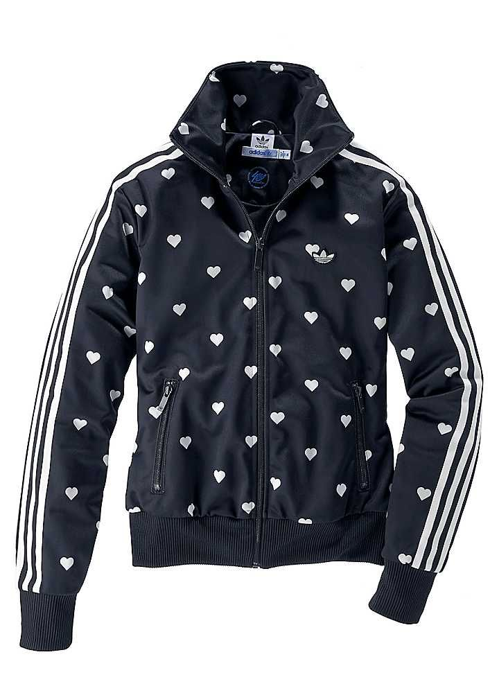 new arrival 69e34 94cd4 Adidas Originals Heart Print Tracksuit Jacket