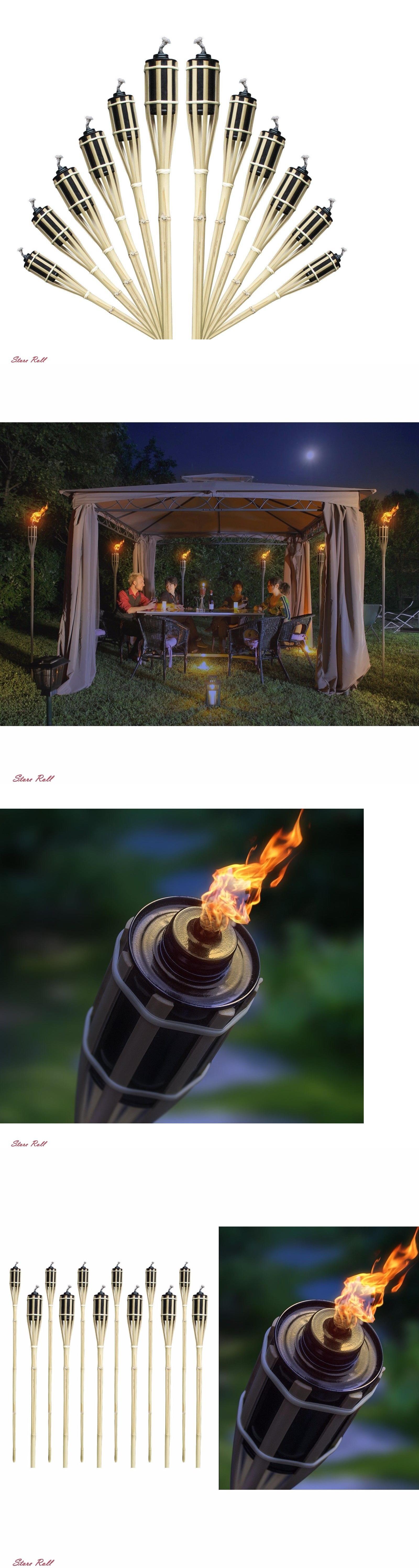 Garden And Patio Torches 183391: Tiki Torch Lamp Floor Patio Lights Outdoor  Lawn Garden Decor