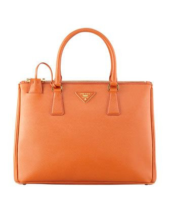 162e172fef06e5 Saffiano Small Double-Zip Executive Tote Bag, Papaya by Prada at Neiman  Marcus.