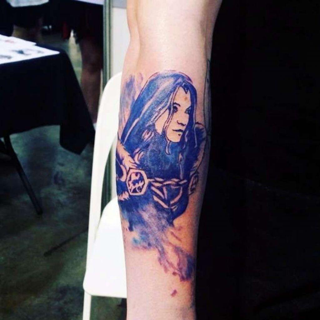 Dota 2 Tattoos Crystal Maiden Tattoos Ink Crystals