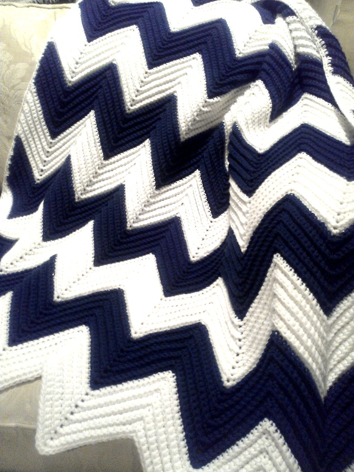 All Things Bright and Beautiful: A Gift of Love: Chevron Afghan ...