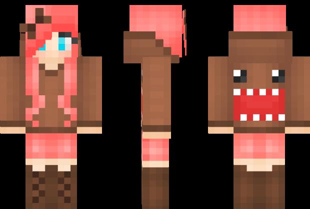 Hot Girl Minecraft Skin Ever Domo Girl Minecraft Skin Pixeledme - Hot skins fur minecraft