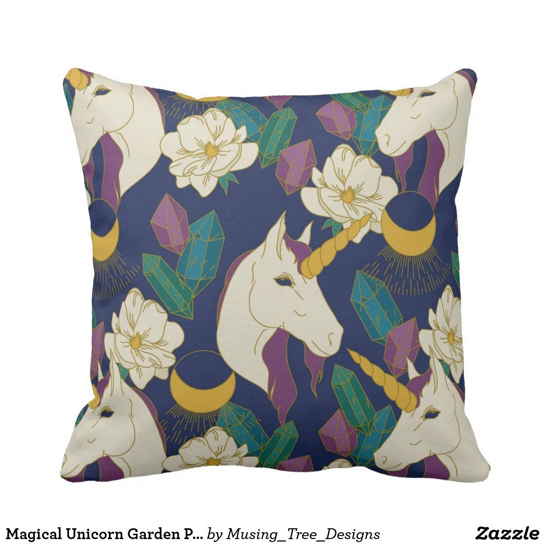 Magical unicorn garden pillow my zazzle pinterest magical