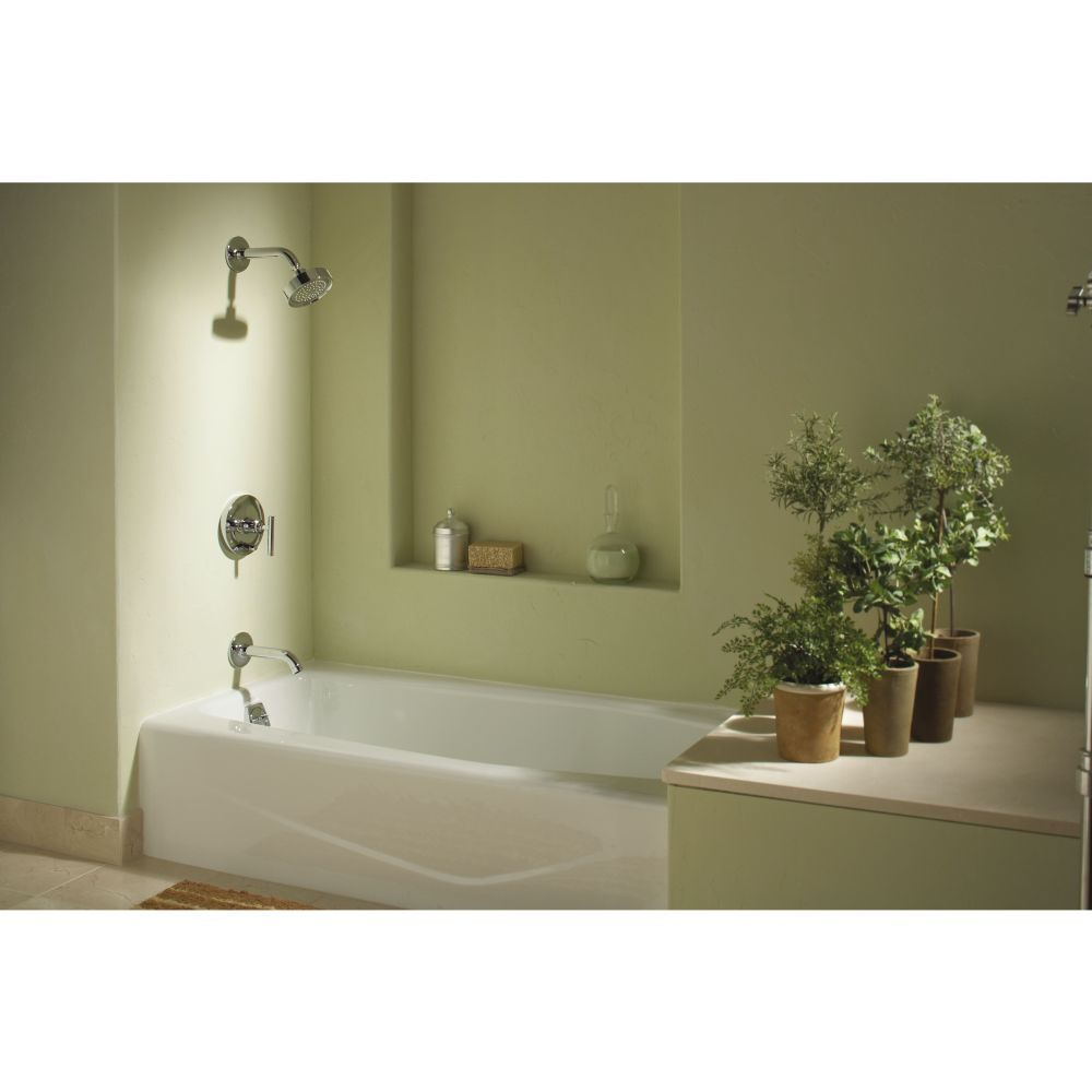 Kohler K-T14420-4-SN Purist Vibrant Polished Nickel One Handle Tub ...