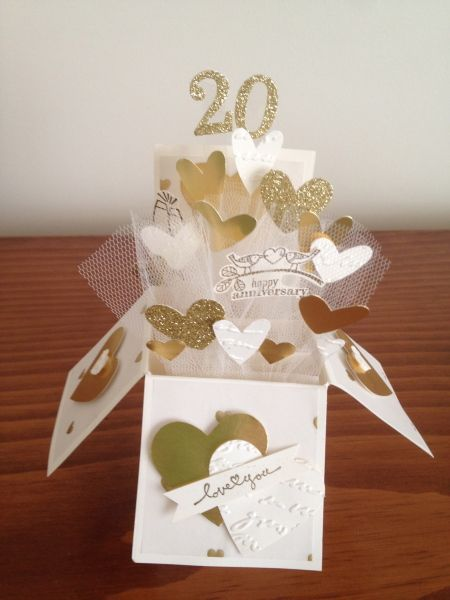 Stampin Connection 20th Anniversary Cards Wedding Anniversary Cards Box Cards Tutorial