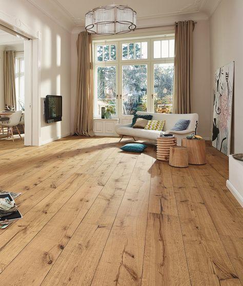 Houten vloer met lange planken Lindura van Meister #houtenvloer ...