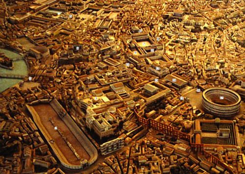Model Of The City Of Rome During The Early Fourth Century Ce Rome