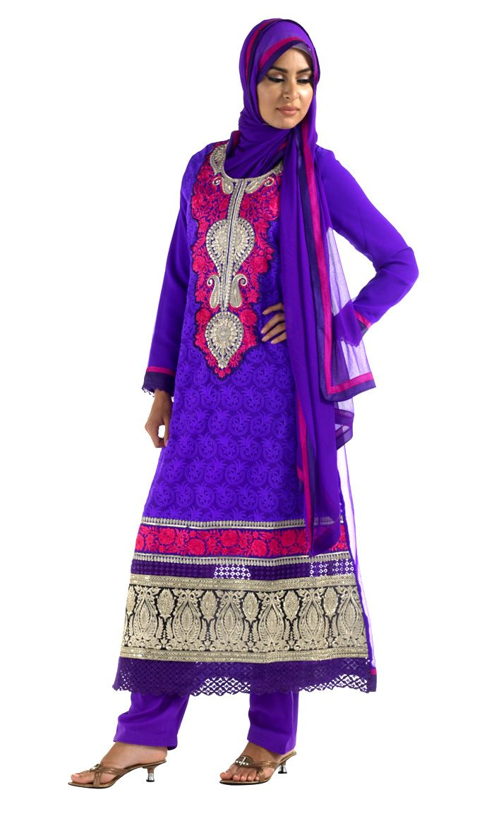 Ihram Kids For Sale Dubai: Purple And Hot Pink Shalwar Kameez This Stunning Shalwar