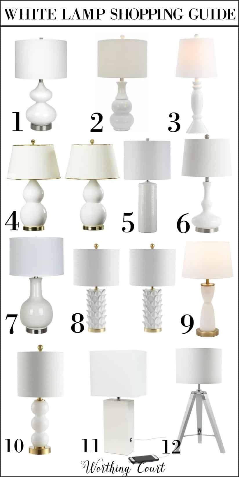 How To Choose The Best Size Table Top Lamps Worthing Court Table Top Lamps Table Lamps Living Room White Table Lamp