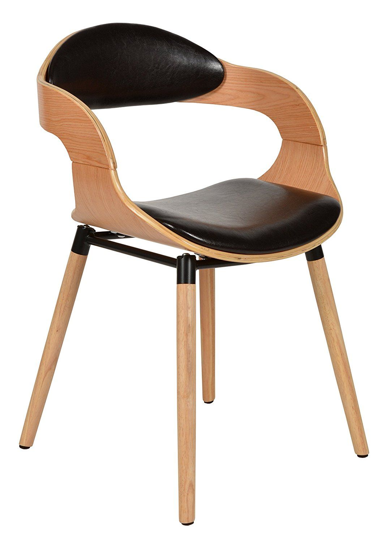 Ts Ideen 1 X Chaise Design Club Salon Salle A Manger Cuisine Bois