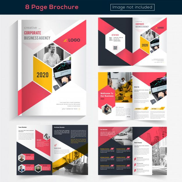 Colorful 8 Pages Brochure Design For Business Freepik Brochure