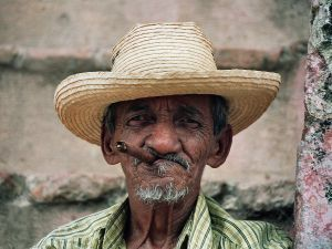 cigar smoking man in Trinidad