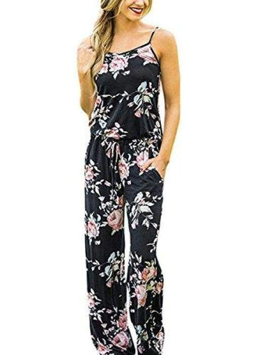 15b9293e1acb Summer Floral Printed Jumpsuit in 2018