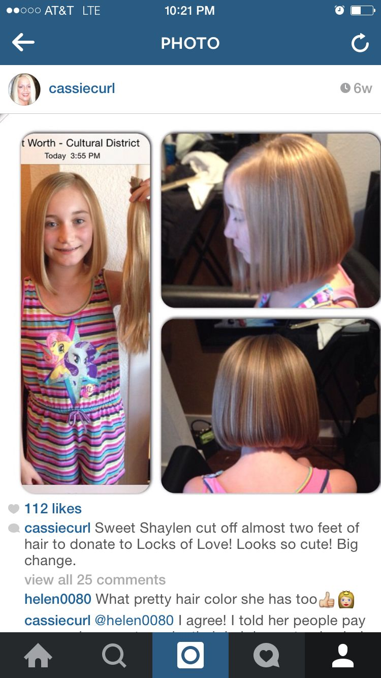 before and after - locks of love donation | shaylen- before