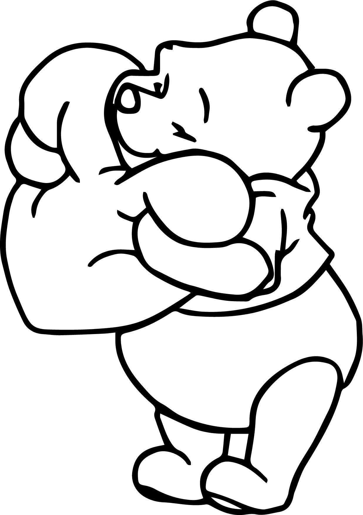 Winnie The Pooh Coloring Pages Love Coloring Pages Winnie The