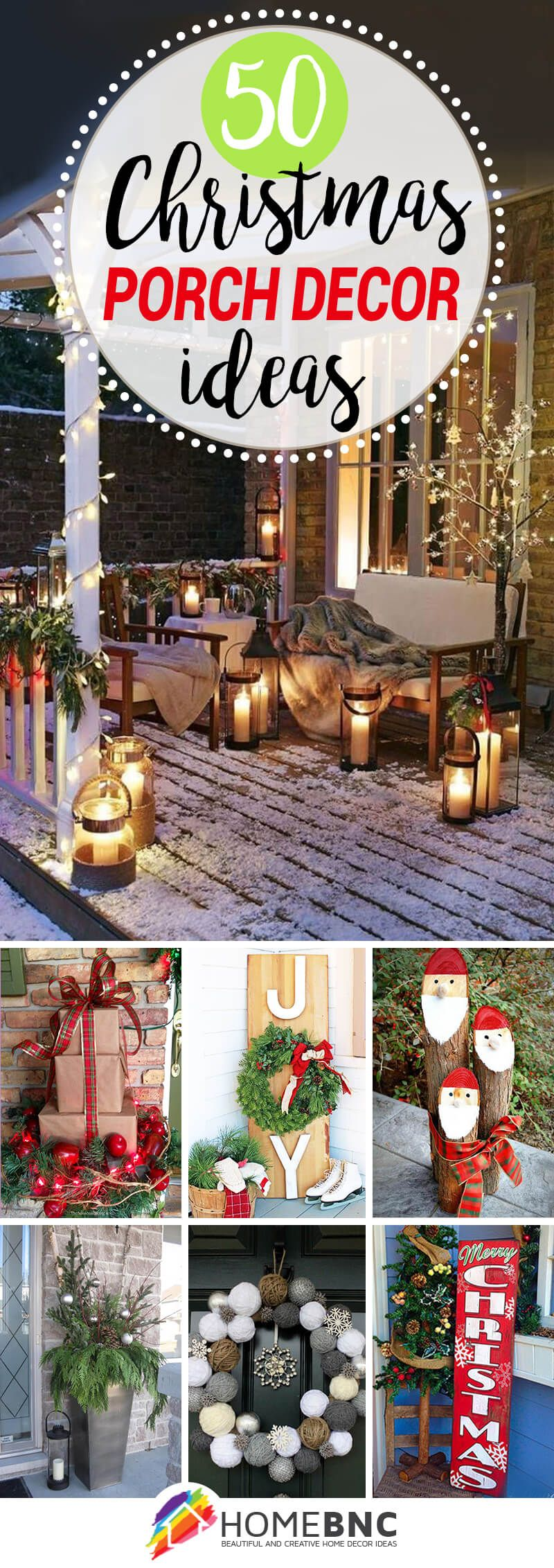 50 Fun and Festive Ways to Decorate Your Porch for Christmas   Christmas porch decor, Christmas ...