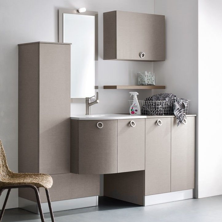 Mobili Per Lavatrici Ad Incasso.Mobile Lavanderia Per Lavatrice Ad Incasso N42 Atlantic Cm 175 P