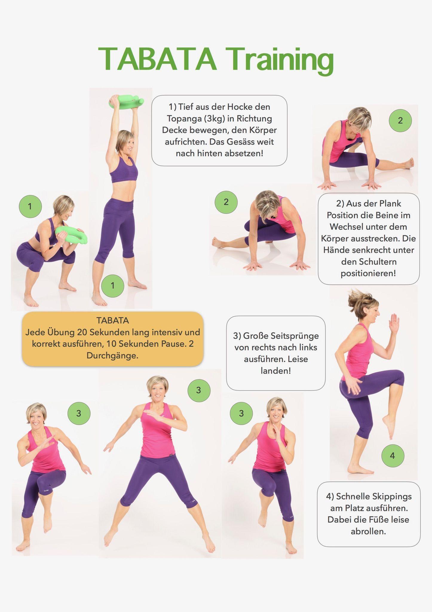 Tabata Training 😊 | Bauch Beine Po | Pinterest | Bauch, Bauch beine ...
