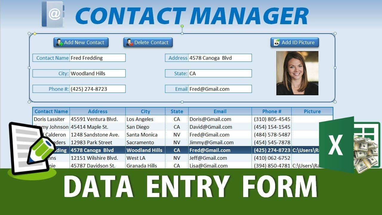 How To Create An Excel Data Entry Form Without A Userform Microsoft Excel Tutorial Excel Tutorials Data Form