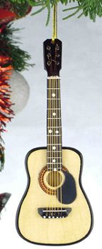 Acoustic Guitar Tree Ornament  Great for office party gift ideas