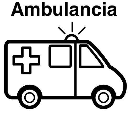 ambulancia colorea   Manualidades
