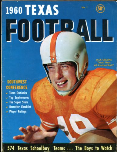 1960 Dave Campbell's Texas Football Magazine 1st Issue Jack Collins