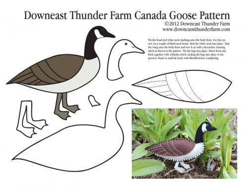 Arrival Of The Canada Goose Felt Pattern Felt Birds Ornaments