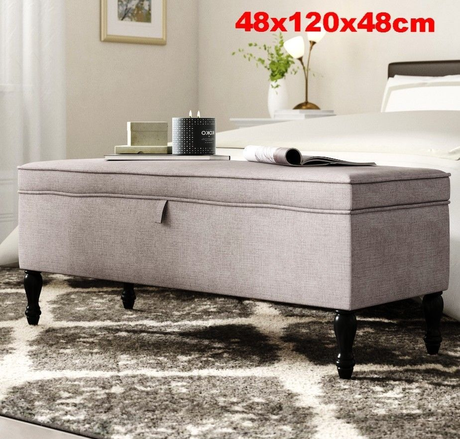 Brilliant Large Ottoman Storage Trunk Seat Bench Blanket Toy Box Gmtry Best Dining Table And Chair Ideas Images Gmtryco