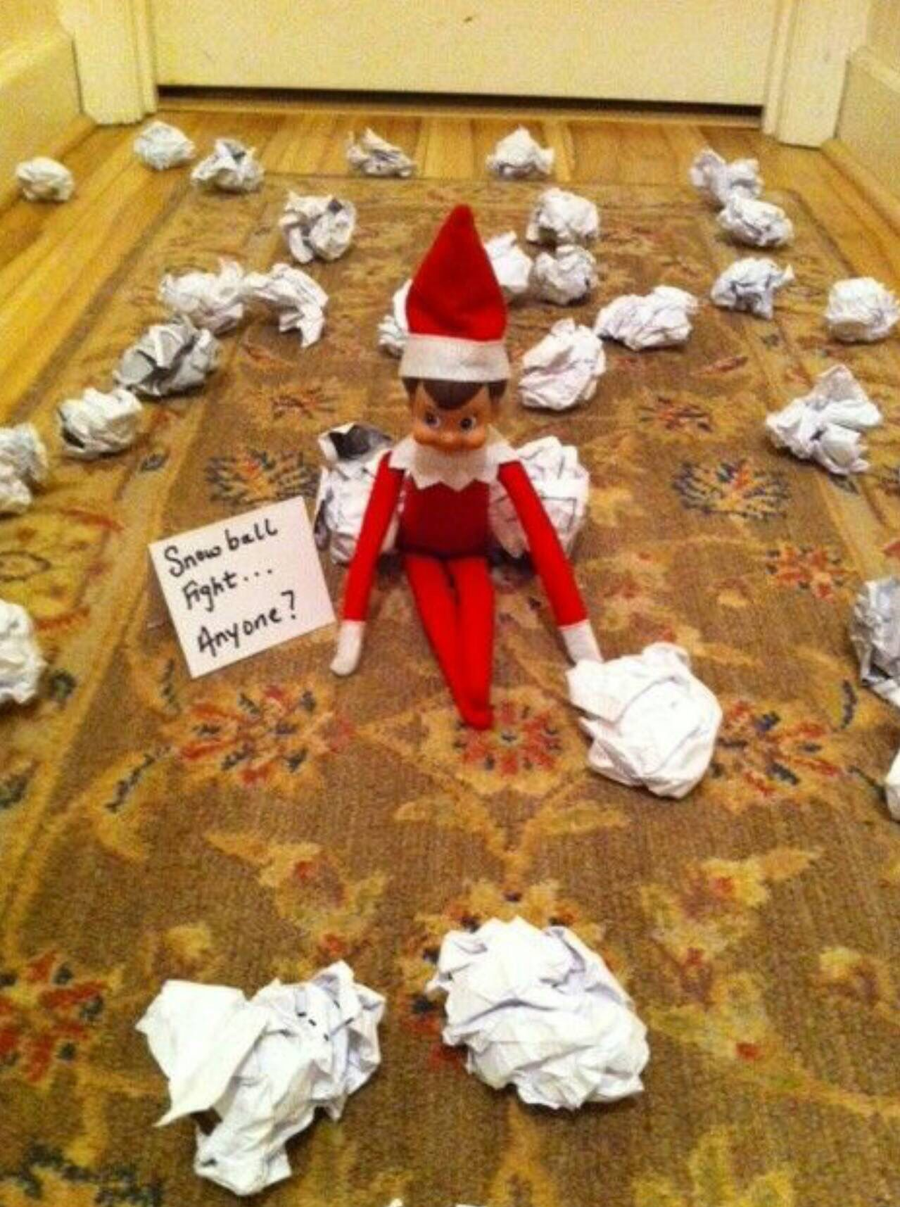 Paper snowball fight | Awesome elf on the shelf ideas, Christmas elf, Elf  on the shelf