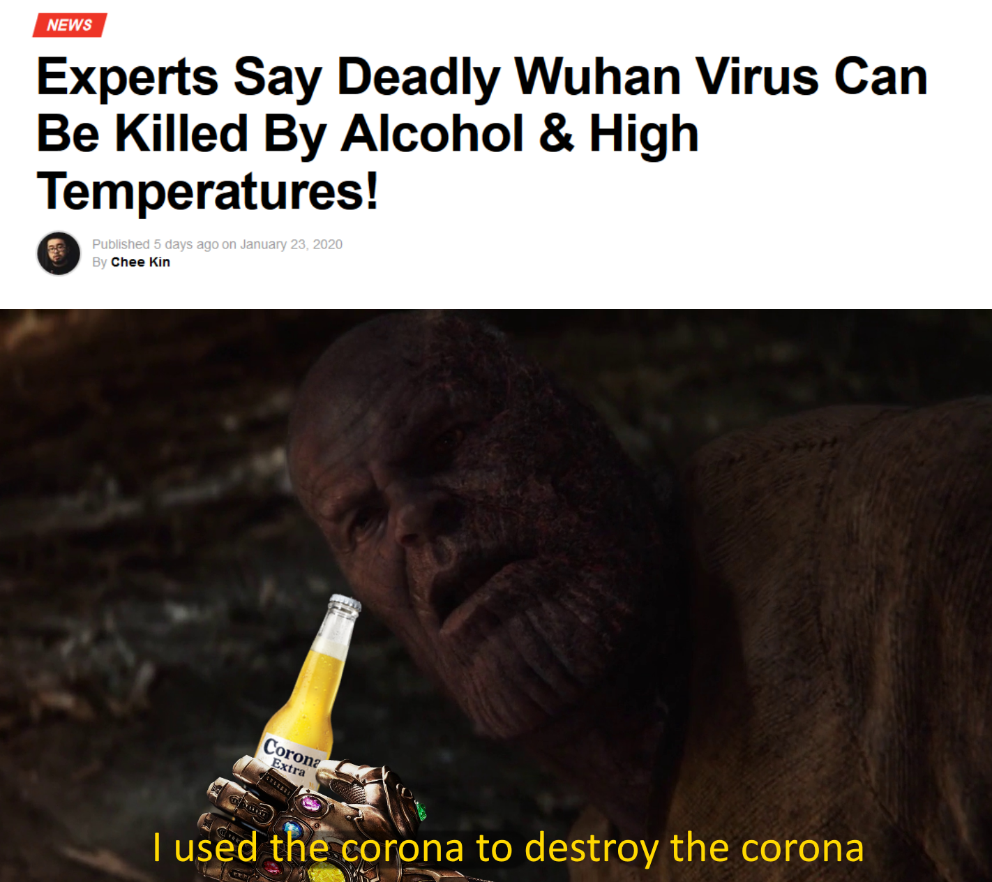 I Used The Corona To Destroy The Corona In 2020 Funny Relatable Memes Funny Memes Marvel Memes