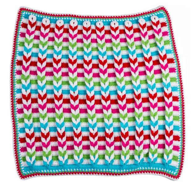 How to Make Crochet Baby Blanket - Wonderful Point - Video | Häkeln ...