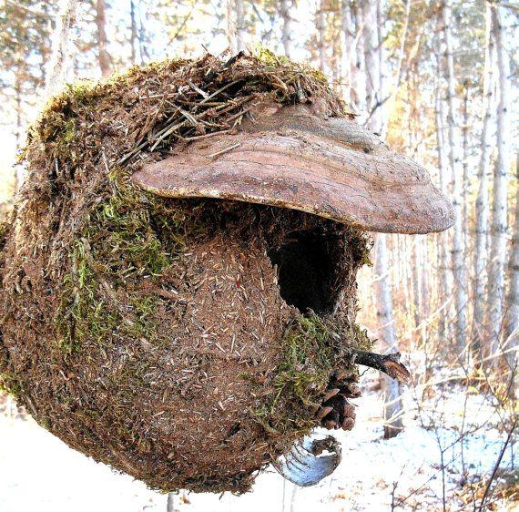 Casa di scoiattolo grande voliera con fungo di di bearpawrustics