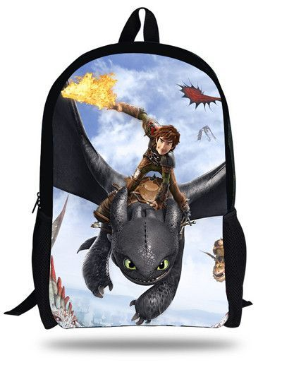 2c582a1a5c67 16inch How to Train Your Dragon Backpack Kids School Bags For Boys Children  Backpacks Cartoon Hiccup Toothless Printing