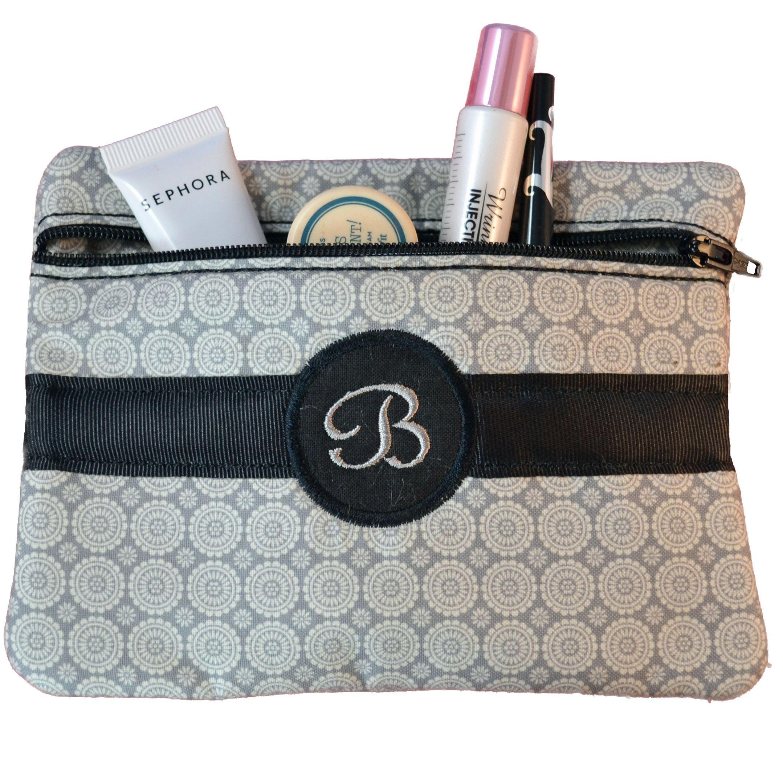 FREE Monogrammed Cosmetic Bag In the Hoop Design Set til