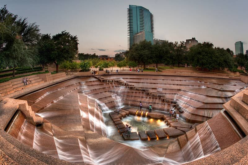 Fort Worth Water Gardens Downtown Texas Designed By Architect Phillip Johnson Www Fountainsdallas