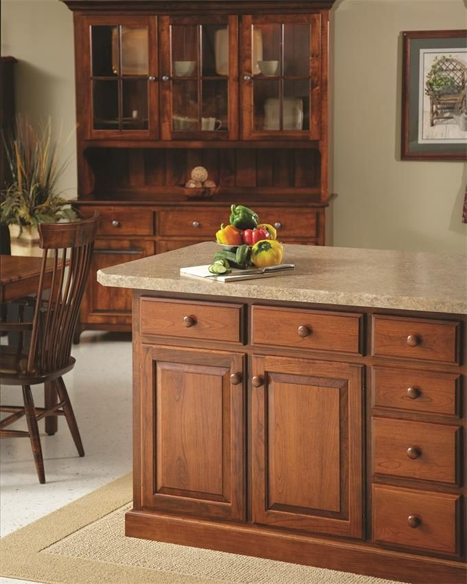 Solid Wood Kitchen Cabinets Made In Usa: American Made Kitchen Island In 2019