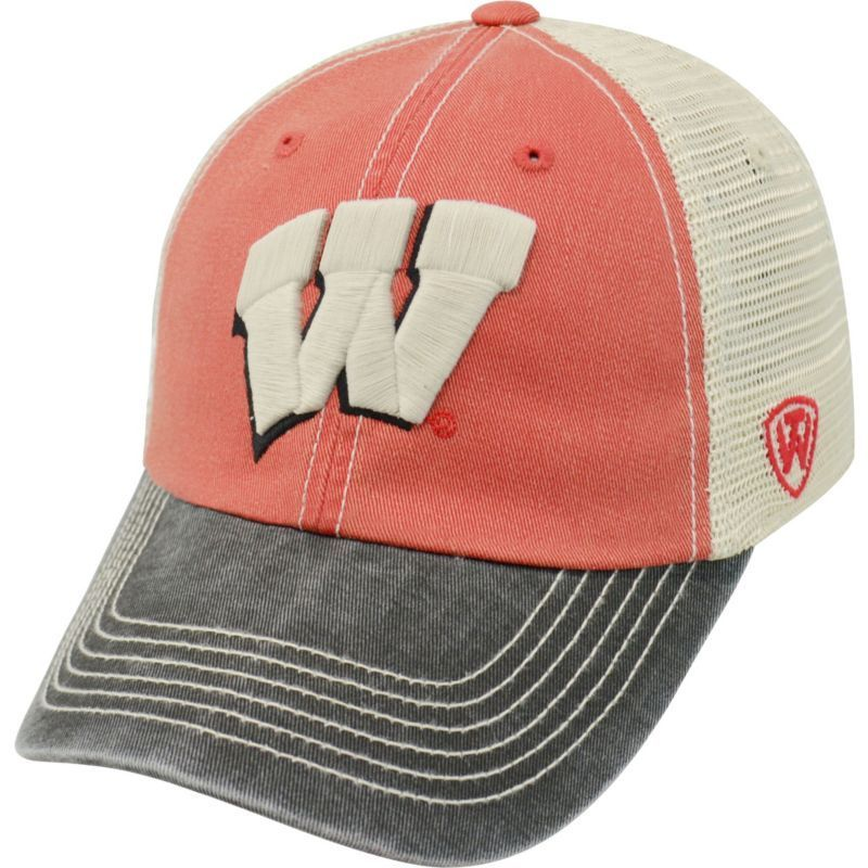 13a5e8b1ba3f3 Top of the World Men s Wisconsin Badgers Red White Black Off Road  Adjustable Hat