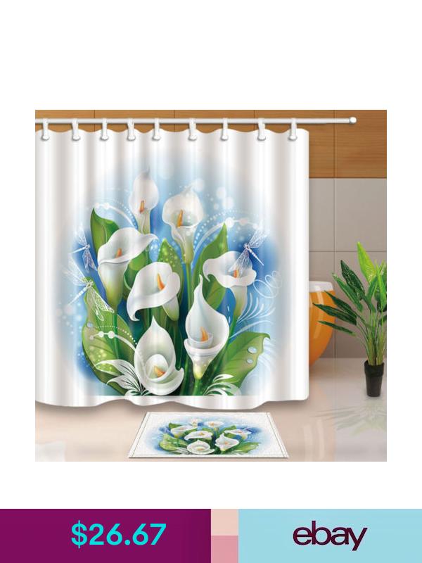 Shower Curtains Liners Ebay Home Garden Rideaux Fleurs