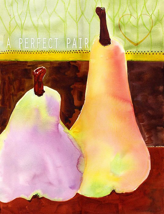 Wall art pear painting by Blenda Tyvoll text \