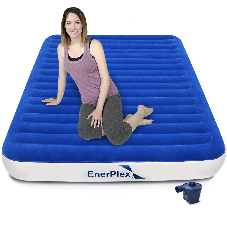 Enerplex neverleak luxury queen air mattress with high