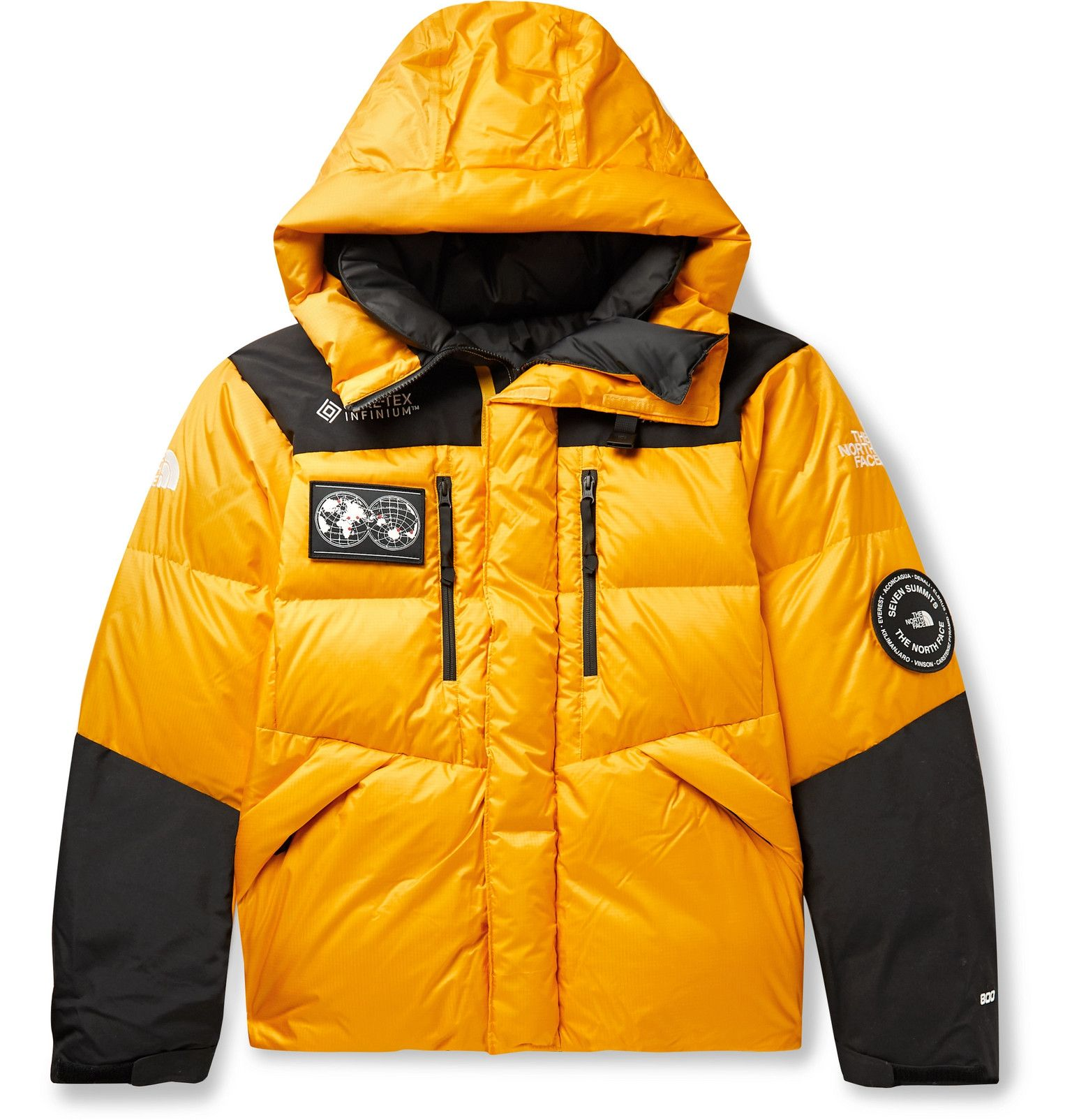 The North Face 7se Himalyan Gore Tex Hooded Down Jacket Men Yellow Down Jacket The North Face Jackets [ 1604 x 1536 Pixel ]