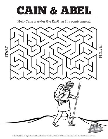 Cain and Abel Sunday School Crossword Puzzles: Your kids will need ...