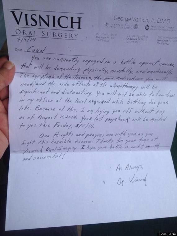 Saladin Ahmed on - letter of firing