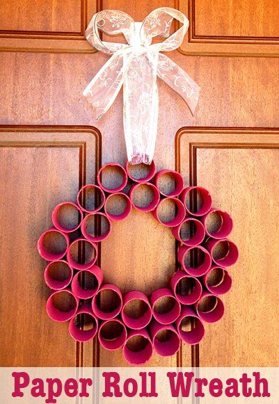homemade christmas decorations paper roll wreath homemade