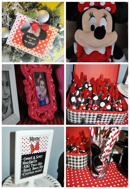 Minnie Mouse Party Supplies Red And Black Modern Minnie