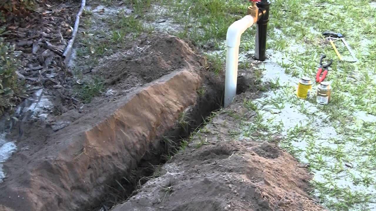 Diy sprinkler system install part 1 of 3 sprinkler