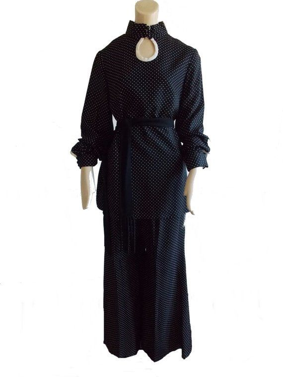 SPECIAL OFFER 1970s polka dot palazzo pants 70s disco studio 54 black white pantsuit / 70s does 30s wide leg palazzo pants / 70s mini dress #whitepantsuit vintage 1970s polka dot palazzo pants / 70s disco studio 54 black white pantsuit / 70s does 30s wide #whitepantsuit