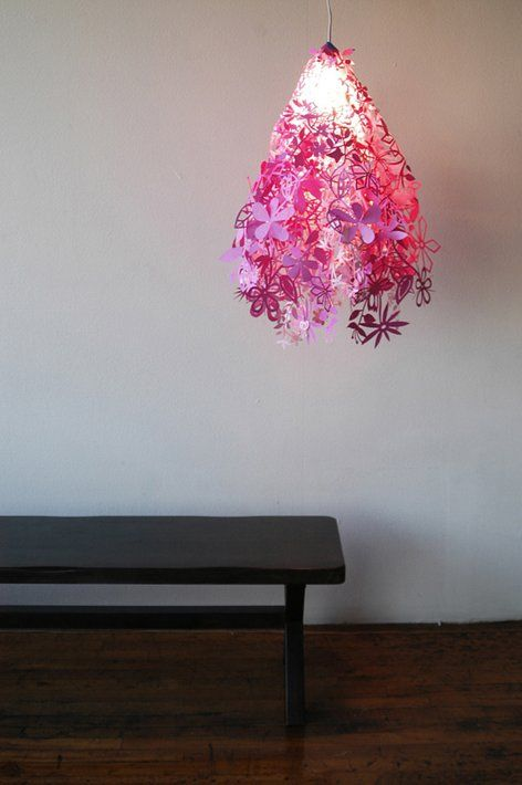 Red Midsummer Light Artecnica Pendant Ceiling Hanging Shades Flowers