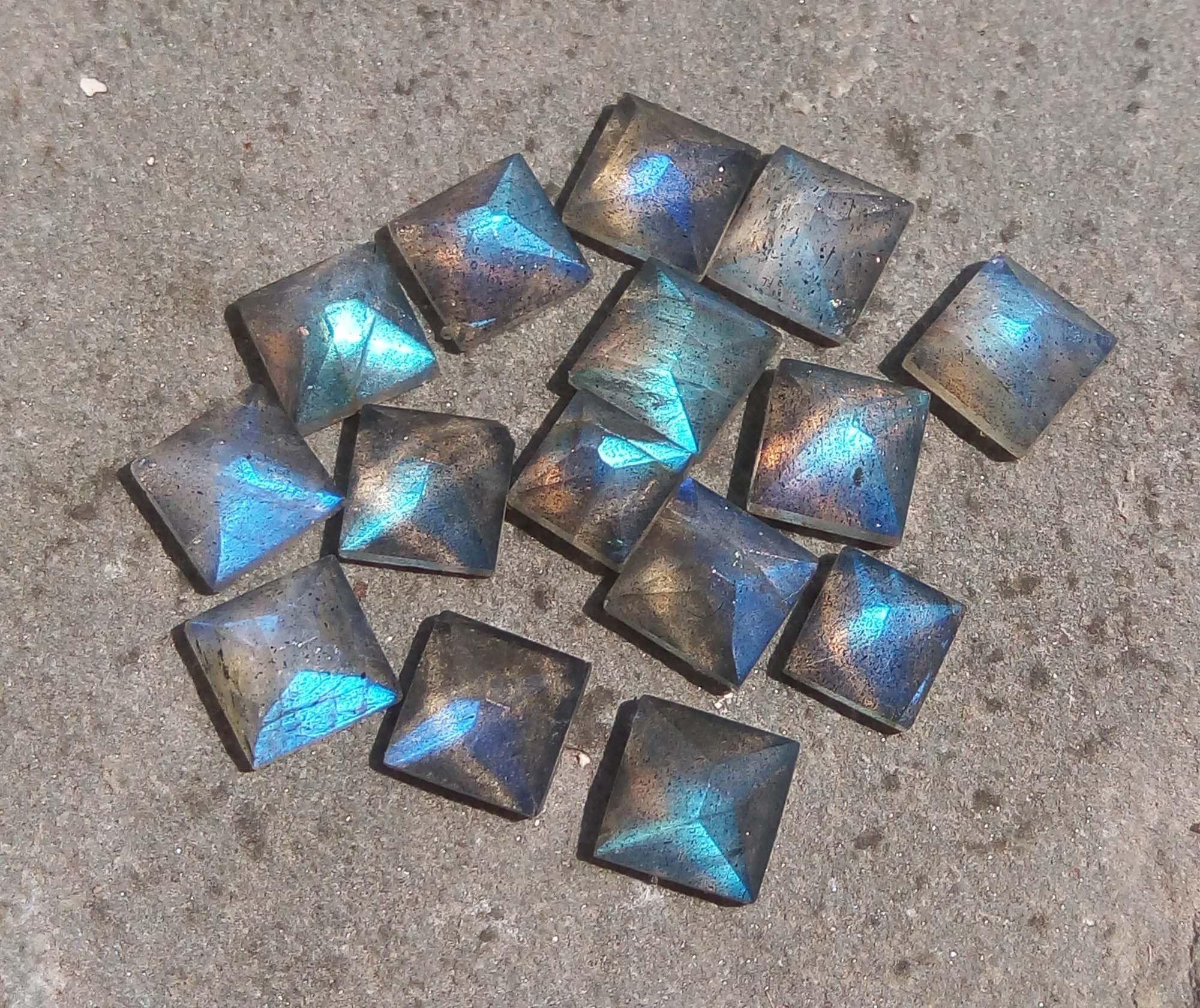 Beautiful Labradorite Triangular Shape Cabochon